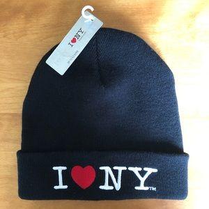 I Love NY ~New York Beanie/Skull Cap Black NWT
